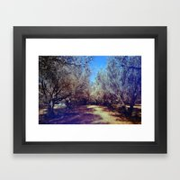 Channel Trees Framed Art Print