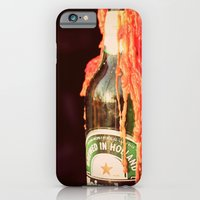iPhone & iPod Case featuring Candle wax in a Bottle by Sara Strutz