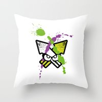 Splatoon - Turf Wars 2  Throw Pillow