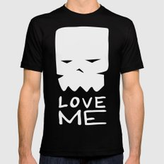 Inverted LOVE ME Black Mens Fitted Tee SMALL