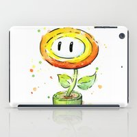 Fire Flower Watercolor Painting iPad Case