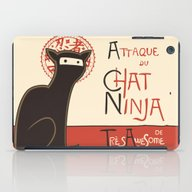 iPad Case featuring A French Ninja Cat (Le C… by Kyle Walters