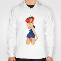 Retro Pin Up Sailor Girl Hoody