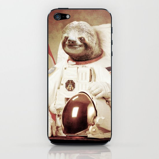 Sloth Astronaut iPhone & iPod Skin