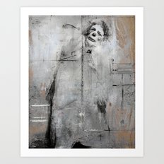 Sad clown Art Print