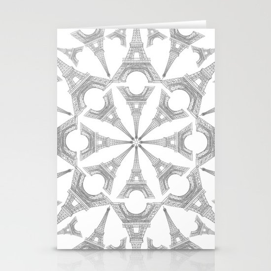 Paris in a Kaleidoscope Stationery Card