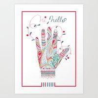 Hi helllo Art Print