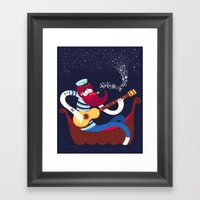Sea Songs Night Framed Art Print