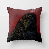 King Of The Crows. Throw Pillow