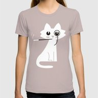 Mark - Aristo-Cat Womens Fitted Tee Cinder SMALL