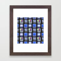 TV Pattern Framed Art Print