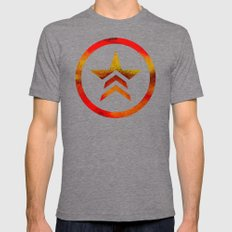 Mass Effect Renegade Mens Fitted Tee Tri-Grey SMALL