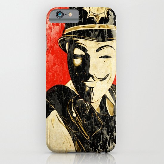 Anonymous Police Officer iPhone & iPod Case