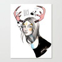 Buck (isolated) Canvas Print