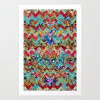 Wild Chevron- Indian Sty… Art Print