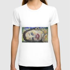 DREAMING TOO Womens Fitted Tee White SMALL