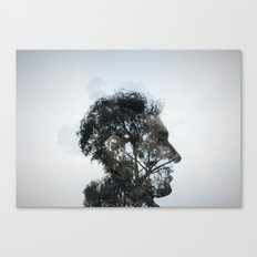 Tr(u)ee love double exposure Canvas Print
