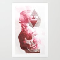 Skull Smoke Art Print
