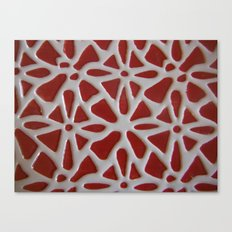 Red Stone Path Canvas Print