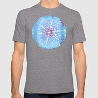 Watercolor Snowflake Mens Fitted Tee Tri-Grey SMALL