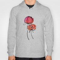 Red Ranunculus Hoody