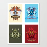 AVATAR NATIONS SERIES FULL SET Canvas Print