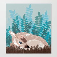 Dozy Deer Canvas Print