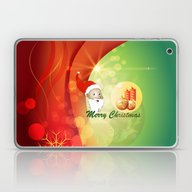 Laptop & iPad Skin featuring Funny Santa Claus by Nicky2342