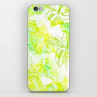 Green Flowers iPhone & iPod Skin