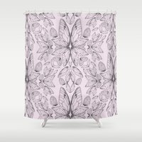 Rose Quartz Insect Wings Shower Curtain