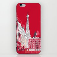 Glorious Paris - Red iPhone & iPod Skin
