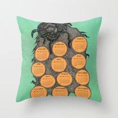 Sheep Calendar 2015 Throw Pillow
