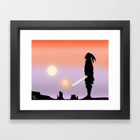 Jedi Horizon Framed Art Print