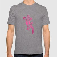 Pink Salamandra Mens Fitted Tee Tri-Grey SMALL