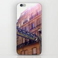 The Metro, Paris iPhone & iPod Skin