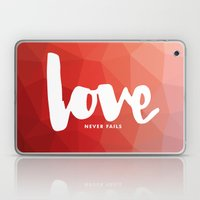 Love Never Fails Laptop & iPad Skin
