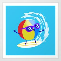 Lets Surf The Ocean Toge… Art Print