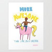 2-Pac On A Unicorn Art Print