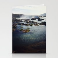 where the water falls Stationery Cards
