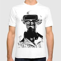 Spaceman Mens Fitted Tee White SMALL
