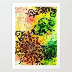 Henna Fantasia Art Print