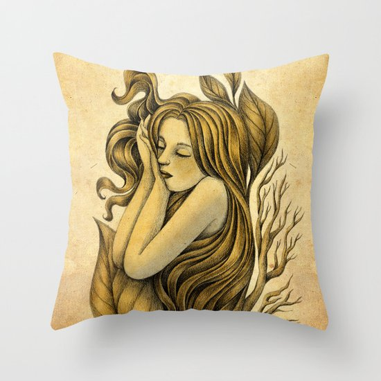 Little Rhizome Throw Pillow