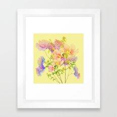 soft pastel floral Framed Art Print