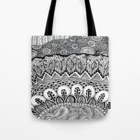 Black and White Doodle Tote Bag