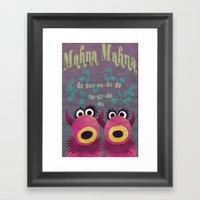 Mahna Mahna Framed Art Print