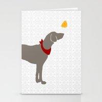 Weimaraner Dog Art Stationery Cards