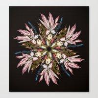 Flemish Floral Mandala Canvas Print