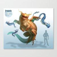 Pokemon-Dragonite Canvas Print