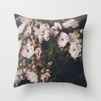 Angel Flowers  Throw Pillow
