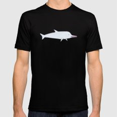 dolphin Black SMALL Mens Fitted Tee